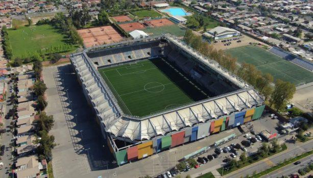 Estadio Bicentenario de La Florida desde las alturas